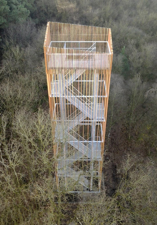 Viewing Tower on the Vecht Riverbank in Dalfsen : Topos