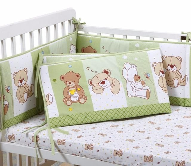 Animal Print Cotton Soft Baby Crib Cot bumpers Set Breathable for Newborn Safety Fence baby Bumpers Bedding Accessories