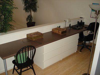 IKEA Hackers: Loft and bedroom with desks