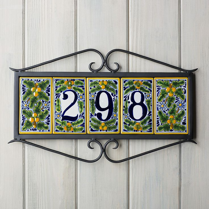 29 best images about tile address frames on pinterest for House number frames