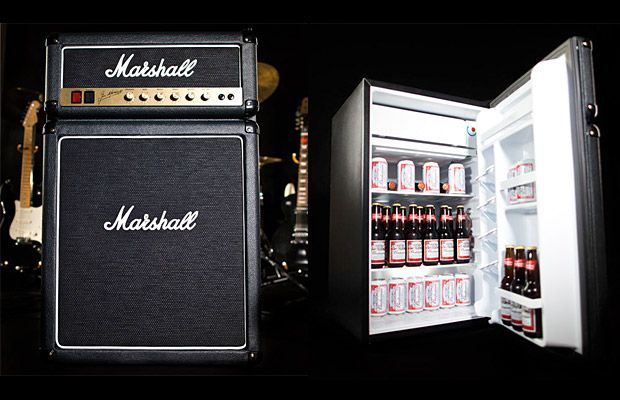 werd.com | Men's Gear, Gadgets, Style For Guys | Gift Guide For Men - Part 70....awesome! Guitar amp mini fridge by Marshall!