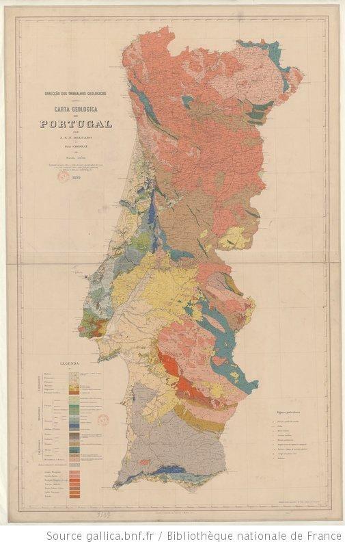 Carta geologica de Portugal / Direcçao dos trabalhos geologicos ; por J. F. N. Delgado ; e Paul Choffat