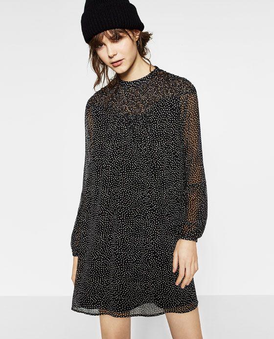 Image 5 of POLKA DOT PRINT DRESS from Zara