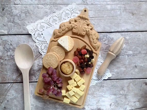 Wood Cheese Board Chopping Home Decor Chef Gift for Cook