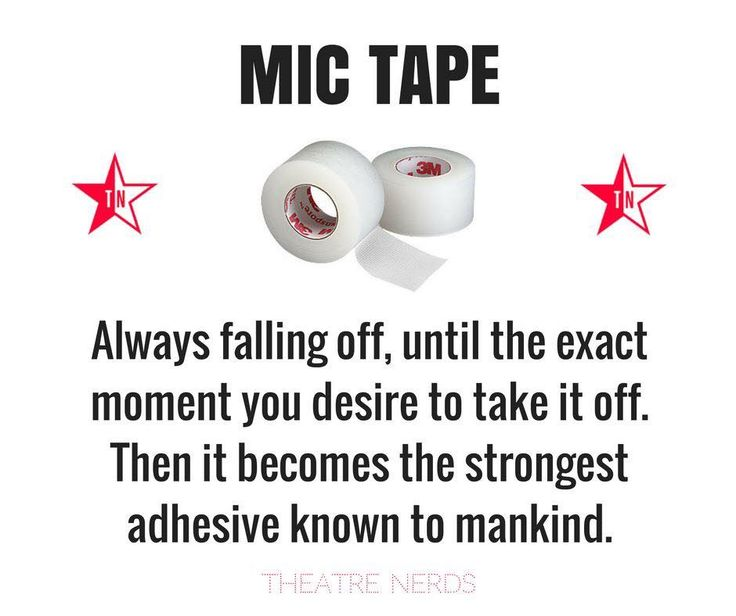 the dreaded mic tape...