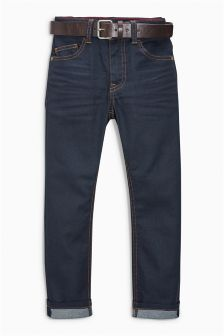 Regular Coated Belted Jeans (3-16yrs)