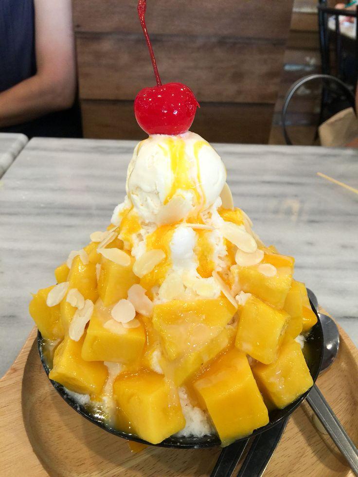 Mango Bingsu ❤️ #bingsu #mango #korea #dessert