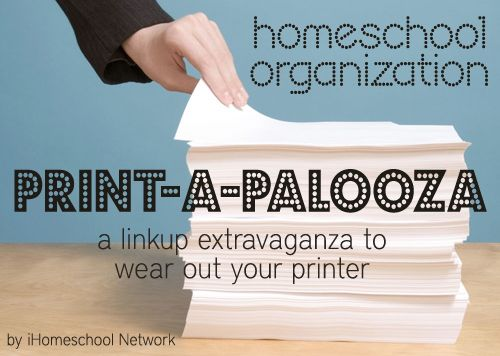 Welcome to Day Two of iHomeschool Network's Print-a-Palooza, an extravaganza that will no doubt require you to stock up on printer ink! Please enjoy this collection of free homeschool organization ...