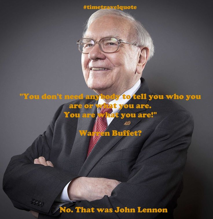 Did Warren Buffet say this?