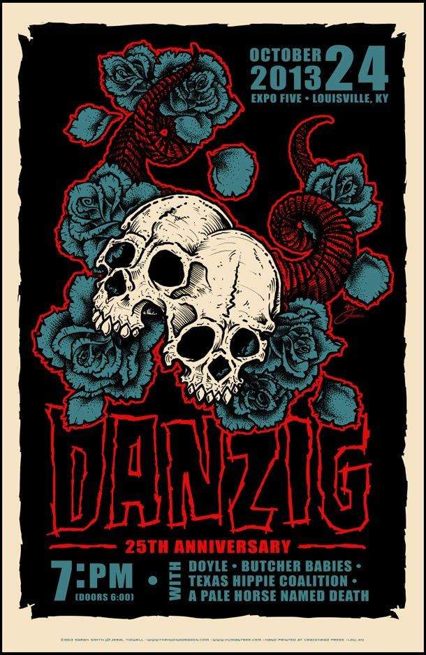 Danzig ~ Louisville Poster by Jeral Tidwell