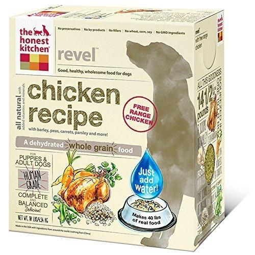 The Honest Kitchen Revel: Natural Human Grade Dehydrated Dog Food Chicken & Organic Grains 10 lbs (Makes 40 lbs)