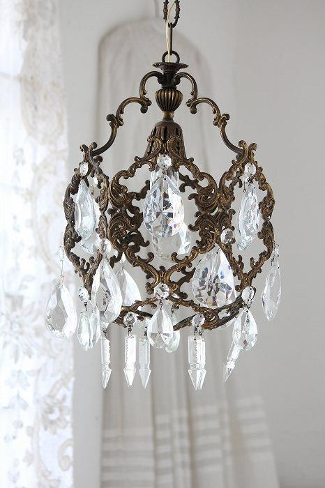 french antique bronze chandelier and crystals