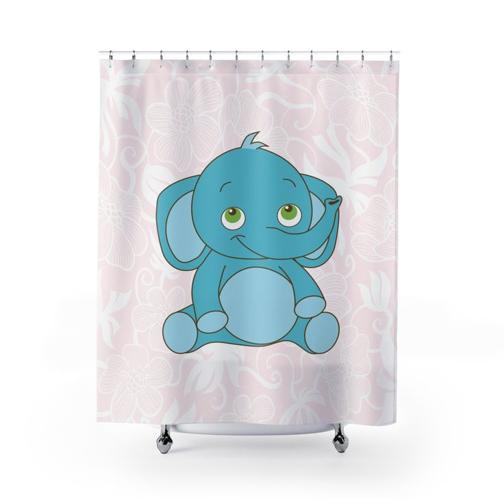 Baby Elephant Designed Shower Curtains
