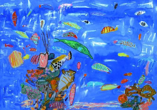 Ken Done's 'underwater' activity | the art rebellion | art for small people