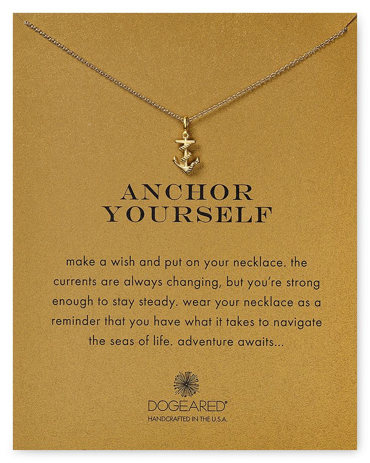 """Dogeared Anchor Yourself Necklace, 18"""" 