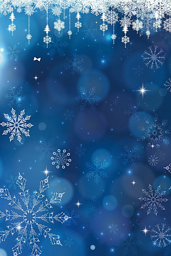 Blue Snowflake Christmas Fantasy Background Material