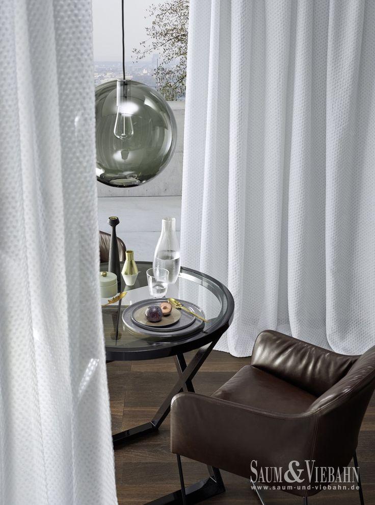NIOB de Saum: Visillo en tons naturals que fa un efecte de gotes d'aigua. / Visillo en tonos naturales que hace el efecto de gotas de agua. #ignifug #ignifugo #treviracs #ontario #fabrics #cortines #cortinas #solucions #soluciones