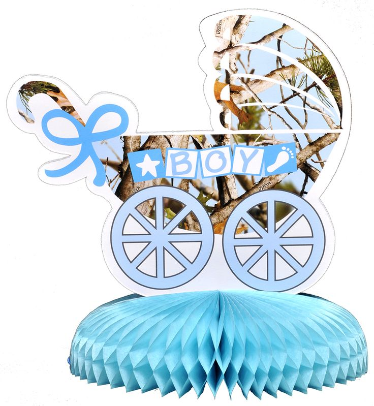 Camo Celebrations  - Blue Camo Baby Shower Centerpiece, $4.99 (http://www.camocelebrations.com/blue-camo-baby-shower-centerpiece/)