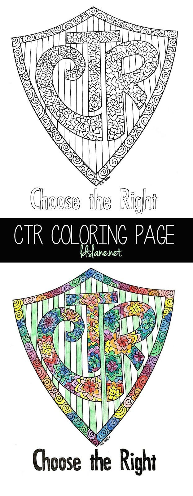 CTR Coloring Page by LDS Lane