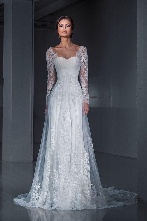 Resultado de imagem para bride dresses long sleeves