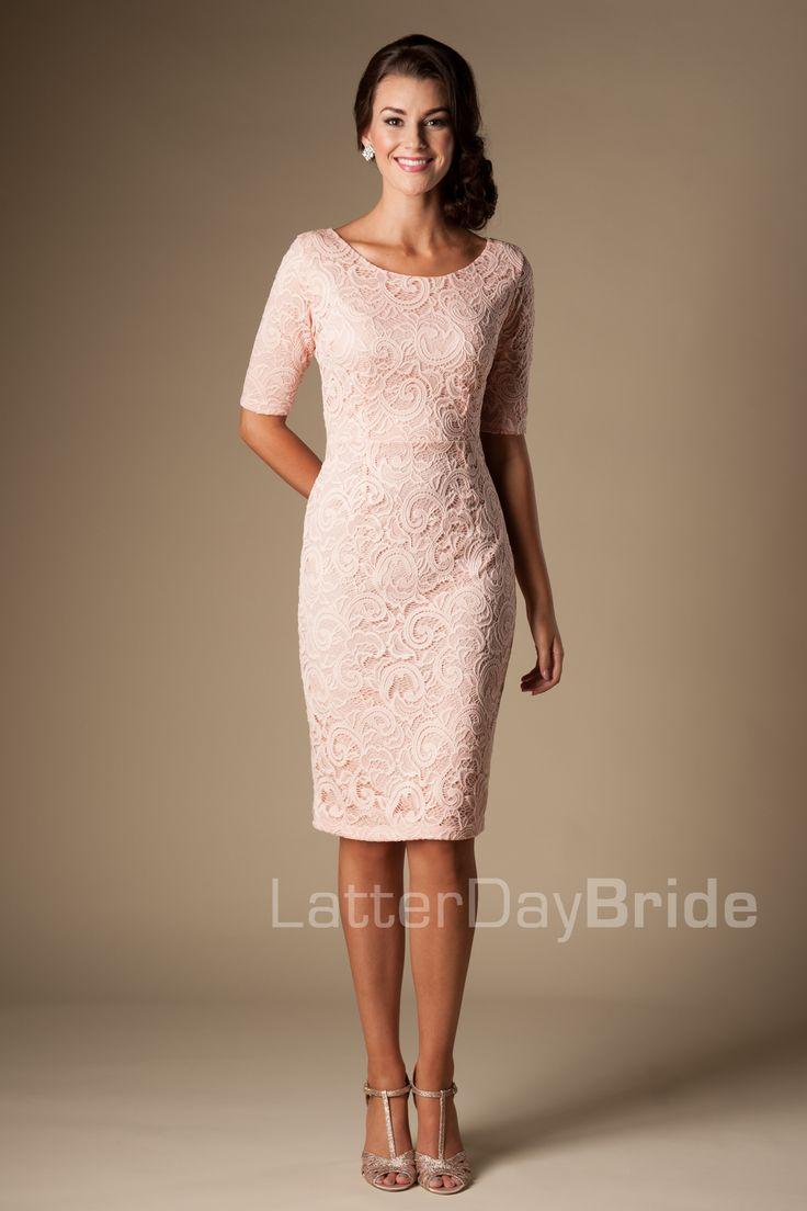 Modest Bridesmaid Dresses : MW22874  COCKTAIL DRESS OPTION! :)