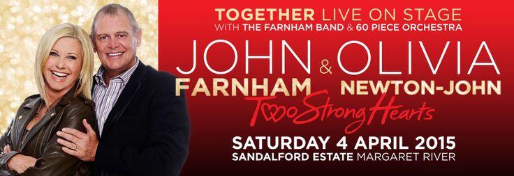 John Farnham & Olivia Newton-John concert at Sandalford Margaret River 4 April 2015