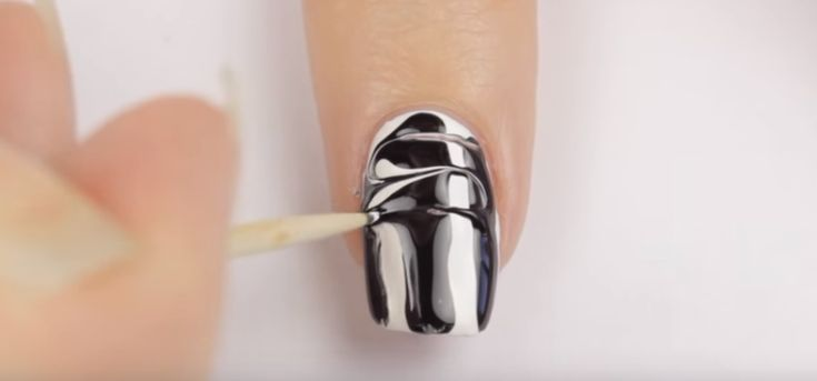 DrawingSShapewithToothpickforNailArt | The Quickest and Easiest Nail Art I've Ever Seen!