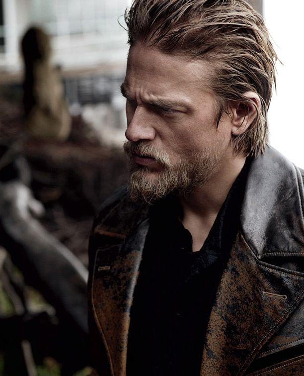 F Forgotten Nobility - Charlie Hunnam mmmmmmm Beard & leather Charlie....