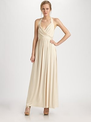 Ilia Shirred Halter Maxi Dress  $238