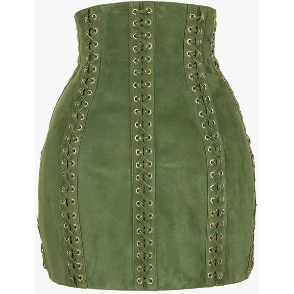 17 best ideas about green leather skirt on