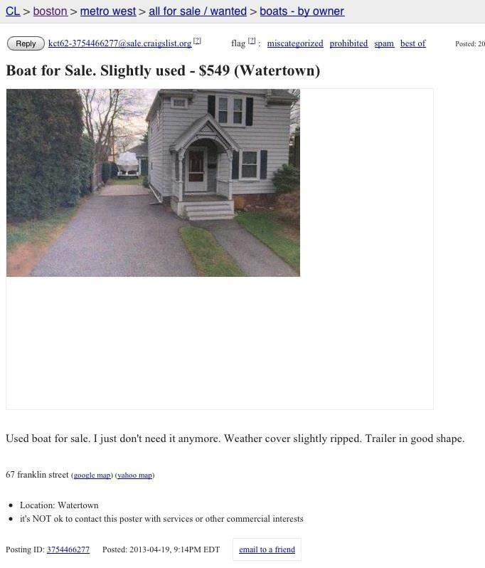 Boat for sale in Watertown