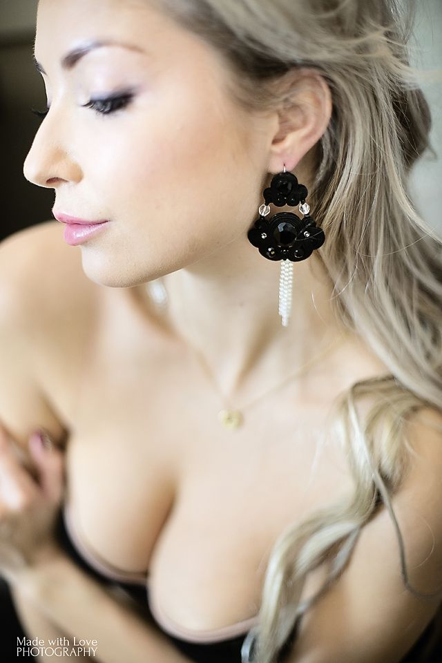 earrings made by Atelier Magia