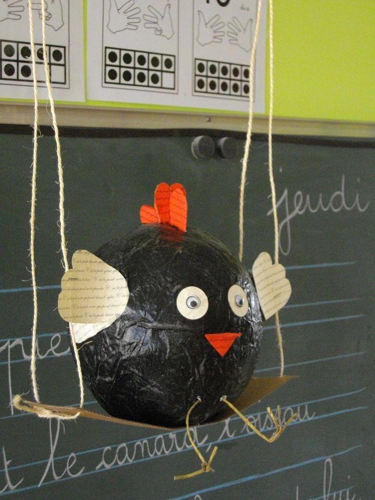 poulette de pâques en ballon de baudruche