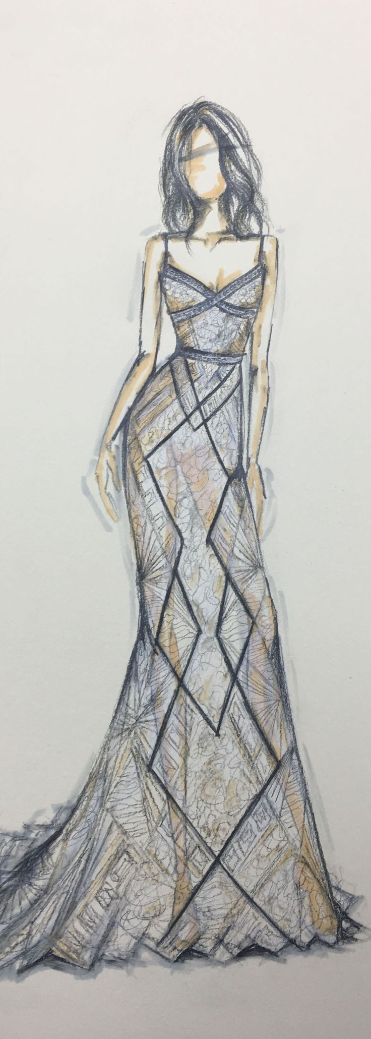 how to draw fashion sketches dresses
