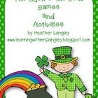 6 Fun Math Games to be used with one fun leprechaun Game Board!  Games Include: Game 1 – Greater Than/Less Than pg 4-7  Game 2 – Luck O' the Irish ...