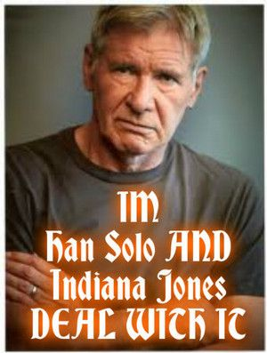 Star Wars Photo: Harrison Ford DEAL WITH IT charc poster