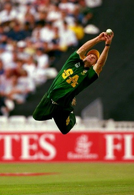 Jonty Rhodes. I think he could actually fly.