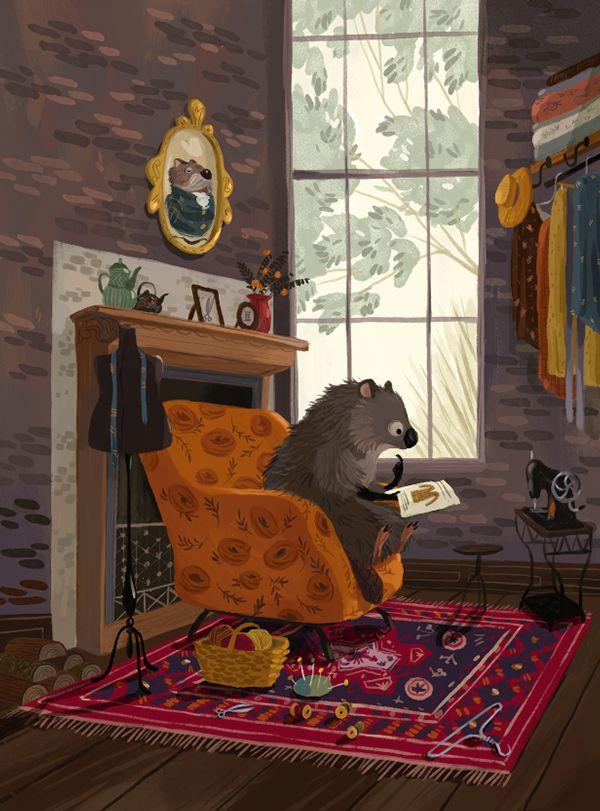 Little hedgehog on Behance by Olga Demidova