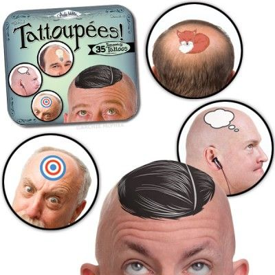 Tattoupées - for those days when your baldness feels boring, not beautiful ... now it can be ridiculous!