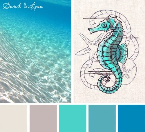 Color Inspirations – Sand & Aqua