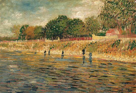 Seine Oever. Het is gemaakt door Vincent van Gogh in 1887. Het hangt in het van Gogh museum.