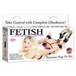 ENSEMBLE D'ATTACHE EXTRÊME FETISH FANTASY. Prenez le contrôle total sur chaque mouvement de votre partenaire avec cet ensemble d'attache extrême. Offert par la boutique érotique (sex shop) La Clé du Plaisir.