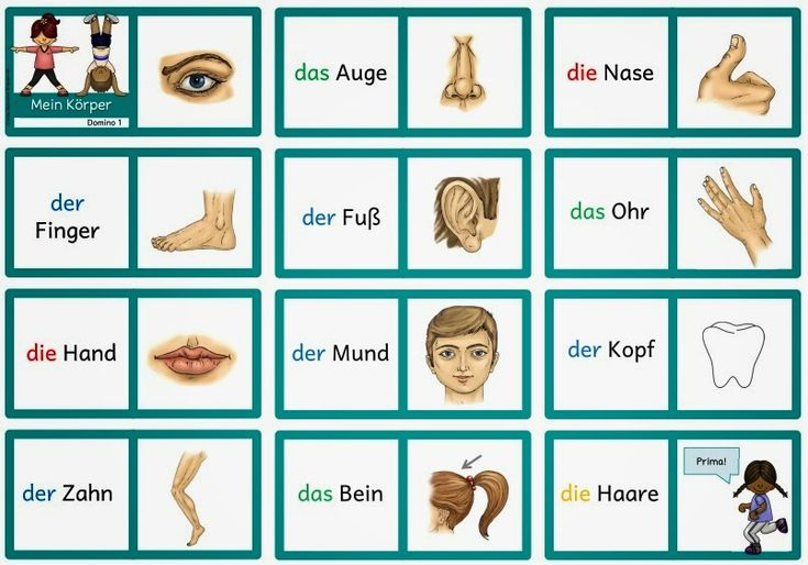"""Ideenreise: Dominos """"Mein Körper"""" für DAZ"""