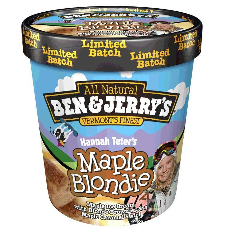 Ben and Jerry maple blondie!