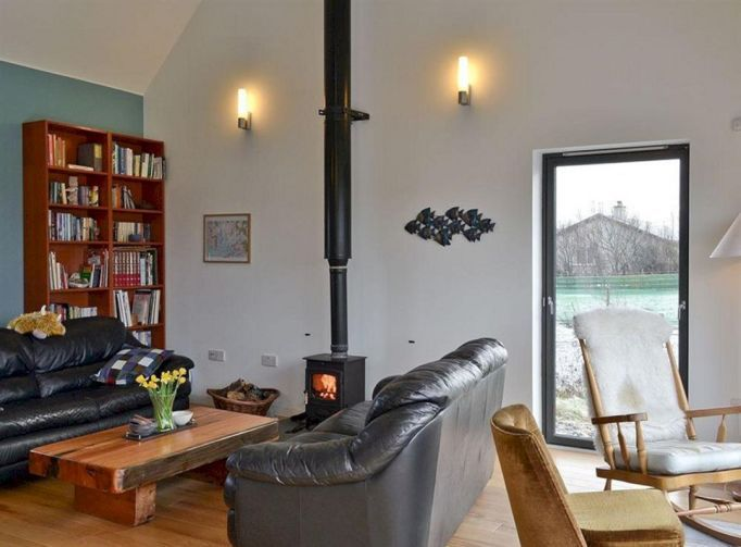 Living Room With Wood Burning Stove (Living Room With Wood Burning Stove) design ideas and photos