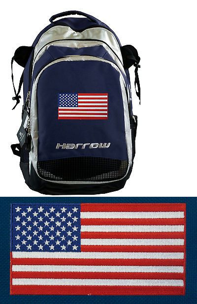 Field Hockey 4388: American Flag Field Hockey Bag - Lacrosse Gear And Stick Bag By Harrow! BUY IT NOW ONLY: $74.99