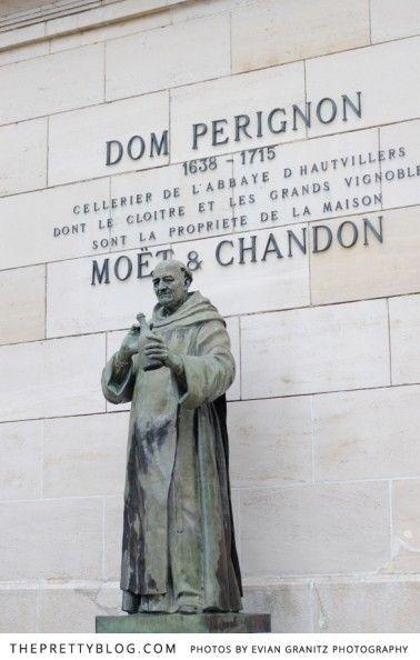 Dom Perignon Statue at Moët et Chandon, Epernay, France   The Pretty Blog   ᘡղbᘠ