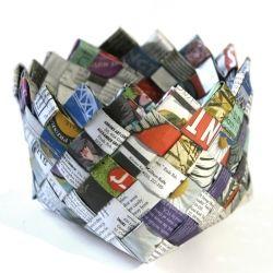 DIY Newspaper Basket!