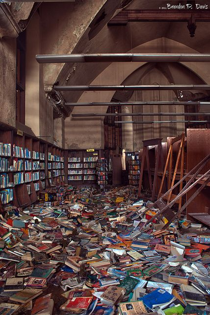 Image result for images of books in pile in detroit library