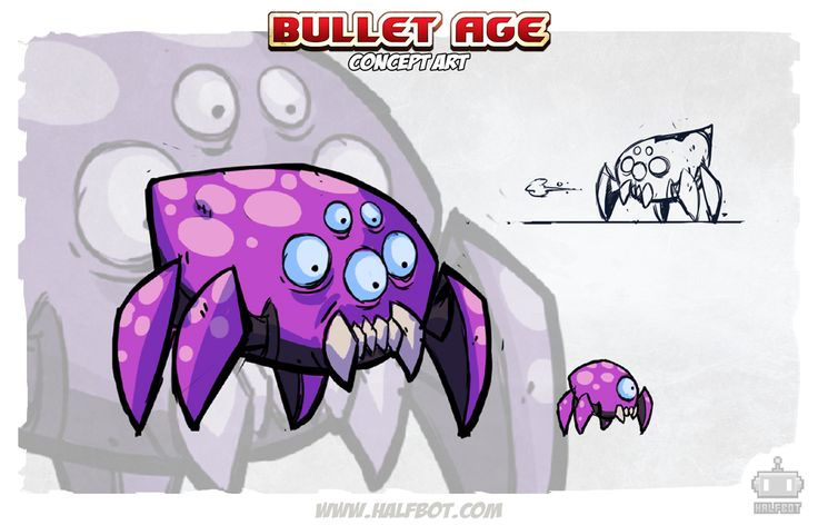 SPIDERS! Concepts for some creepy crawlers you will encounter in the world of Bullet Age.